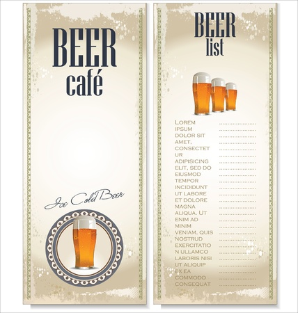 Beer list design Vector