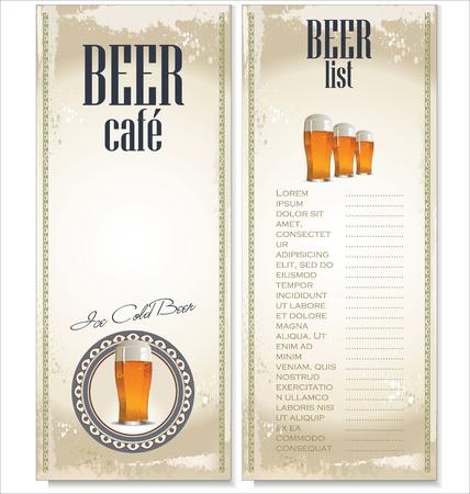 comida alemana: Dise�o de la lista de cerveza