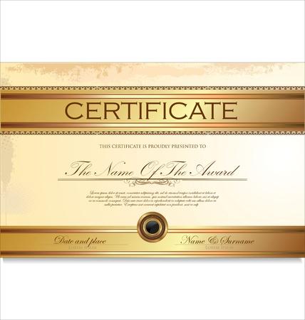 premio cinta: Certificado o diploma ilustraci�n de plantilla