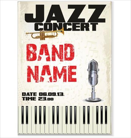 Music background - JAZZ concert Stock Vector - 19566568
