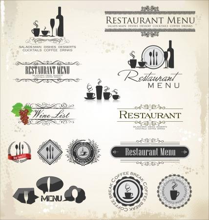 shots alcohol: Label set for restaurant
