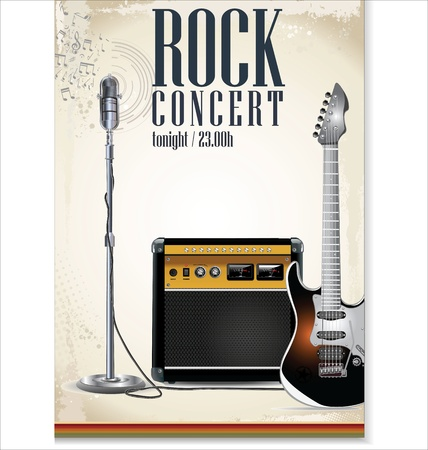 music poster: Music background - rock concert