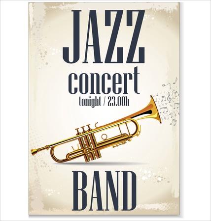 Music background - JAZZ concert Stock Vector - 19566514