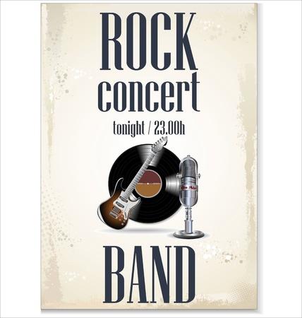 Music background - rock concert Vector