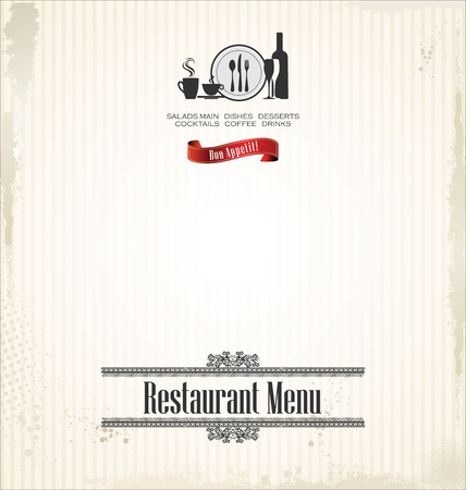 wine card: Restaurant menu design