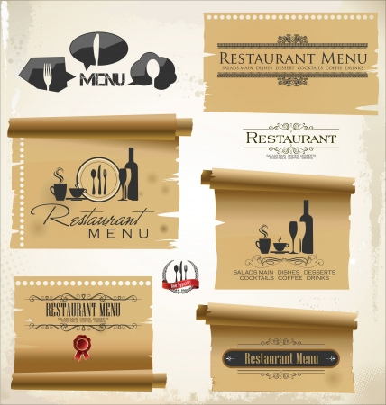Restaurant menu design Stock Vector - 19566533