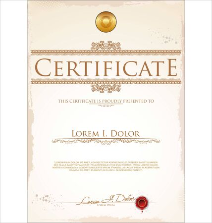paper currency: Certificate template