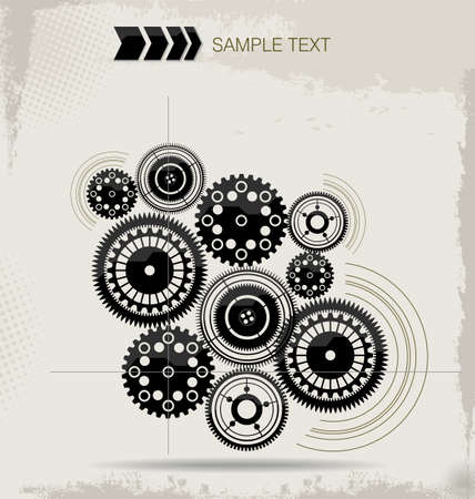Futuristic Gear Design Concept Stock Vector - 19727890