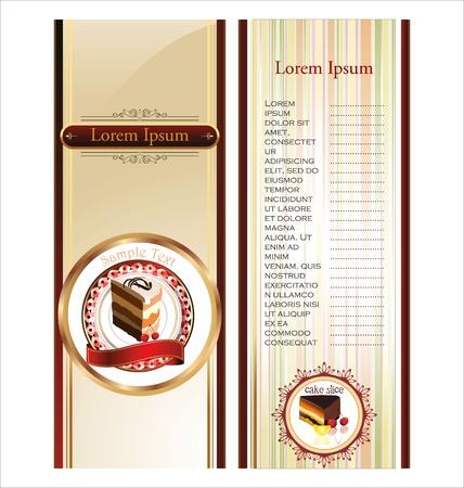 menu card design: Cake banners