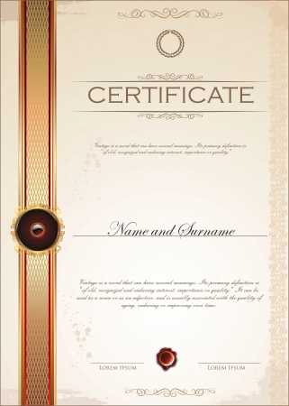 Certificate template Stock Vector - 19727931