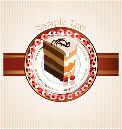 Frame with cupcake invitation template Vector