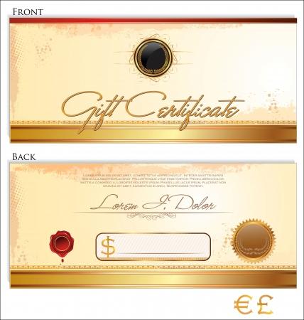 Gift certificate template Vector