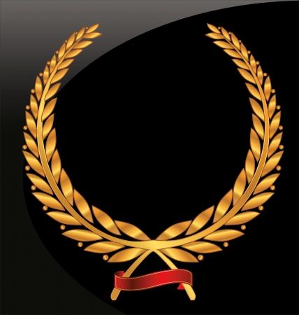 elite sport: Gold laurel wreath Illustration
