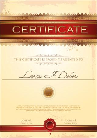 Certificate template Stock Vector - 19727935