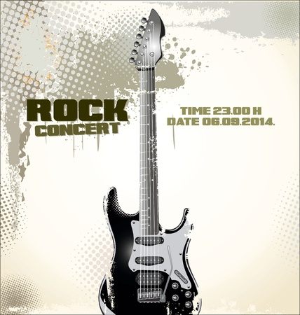 rock guitar: Music background