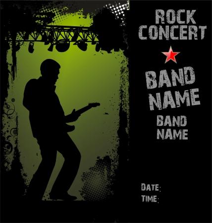 the concert poster: Rock concert poster
