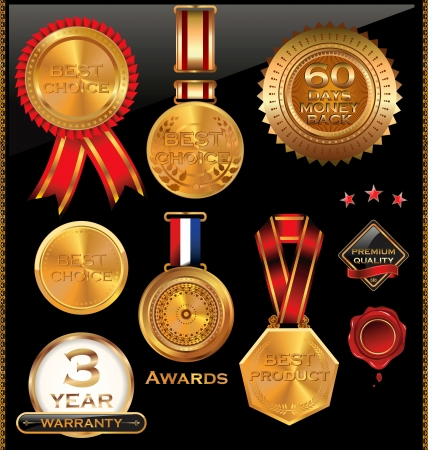 Tag gold classic for sale set Vector