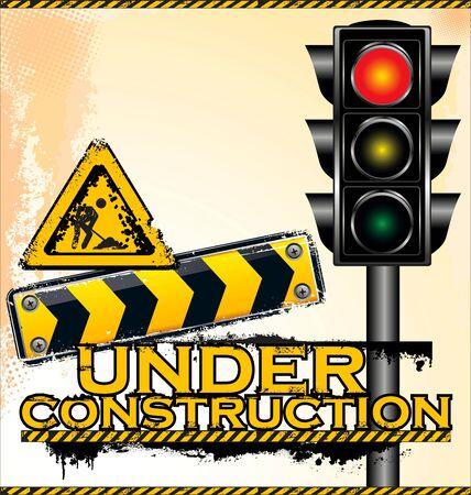 Under construction, vector illustration Stock Vector - 19728011