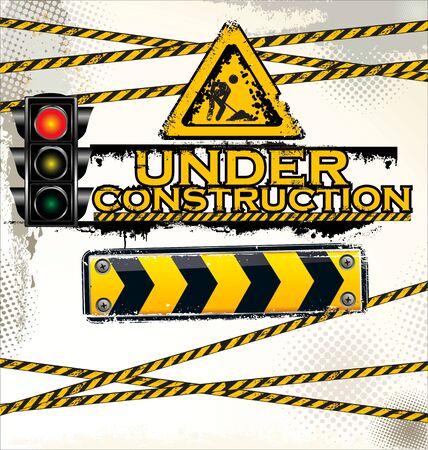 Under construction, vector illustration Stock Vector - 19728014