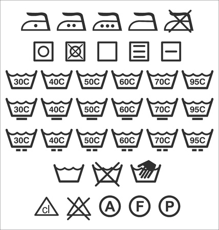 Washing signs Vector