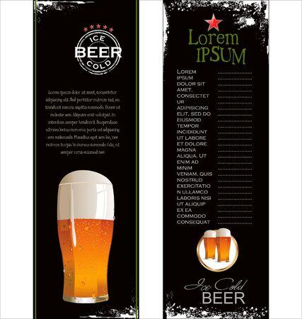 beer house: Beer list background Illustration