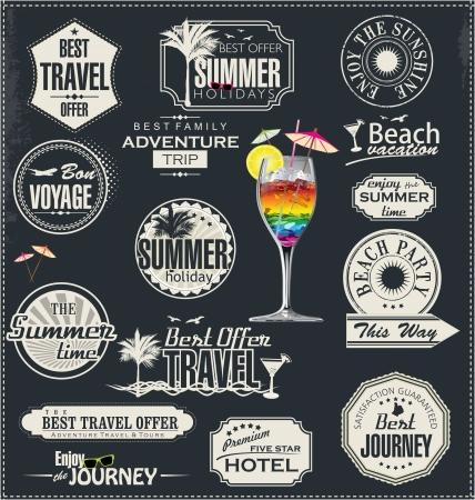Sommerurlaub und Reisezeit Etikett