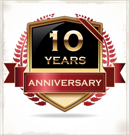 five year: Anniversary design label