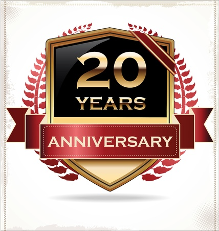 Anniversary design label Stock Vector - 19728164
