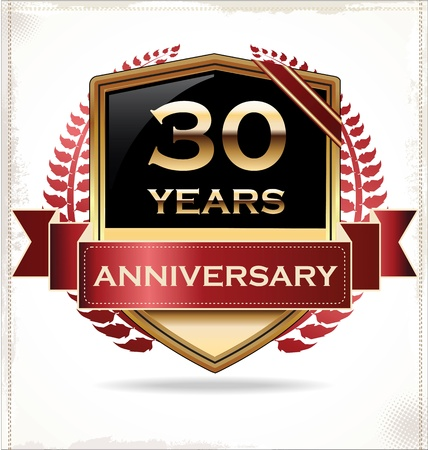 90 years: Anniversary design label