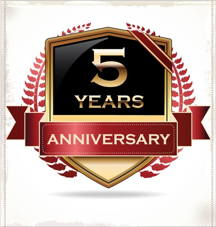 th: Anniversary design label