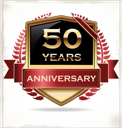 Anniversary design label Vector