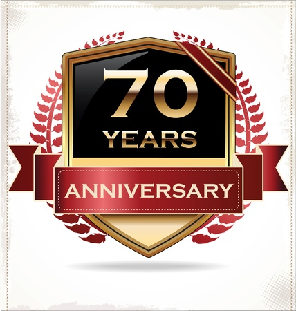 Anniversary design label Stock Vector - 19728166