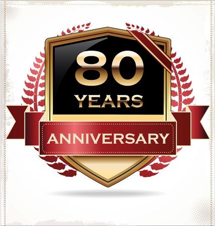 Anniversary design label