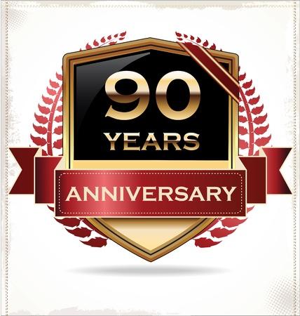 70 80: Anniversary design label