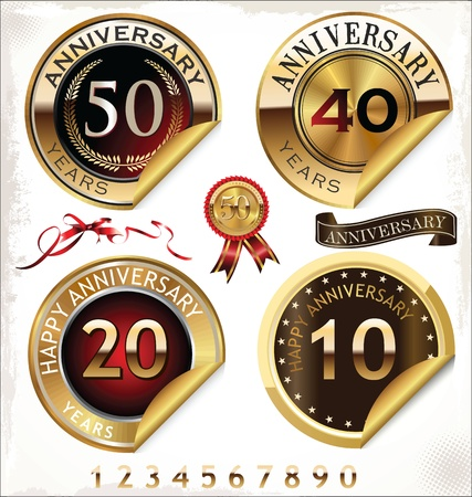 35 years: Anniversary design element collection  Illustration