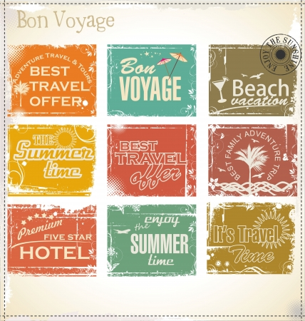 grunge: Vintage summer labels