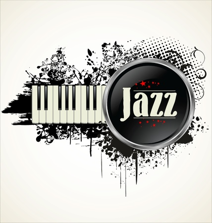Jazz grunge label Vector