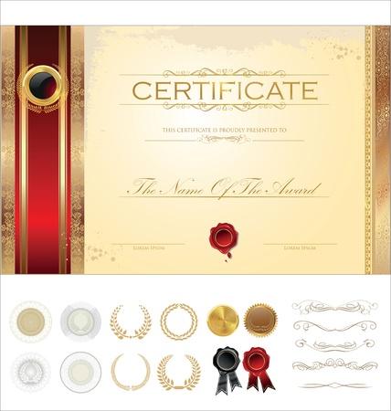 certificate background: Luxury certificate template