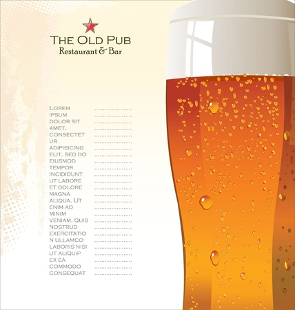 dark lager: Menu list for beer
