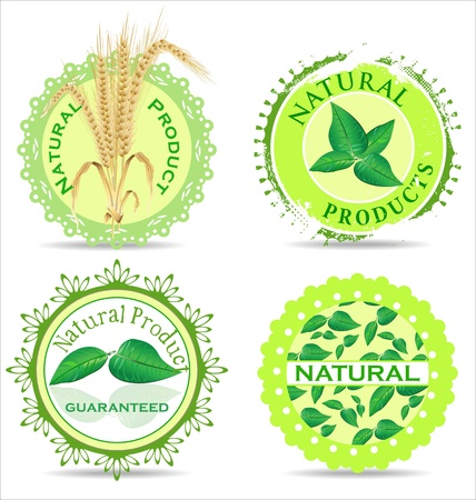 Natural product label set Vector