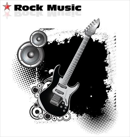 Rockmusik Hintergrund Standard-Bild - 20168861