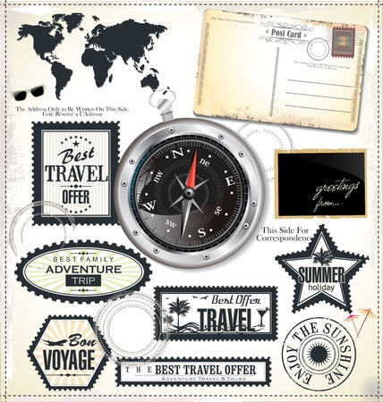 Travel design elements Vector