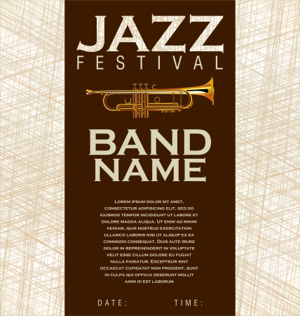 Jazz music background Stock Vector - 20168960