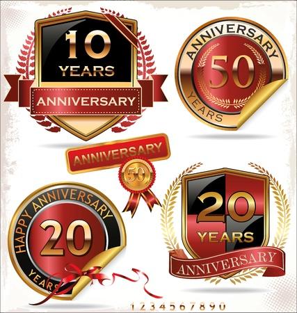 Anniversary Golden label - set