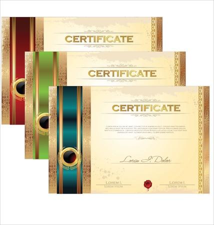 Plantilla de certificado Foto de archivo - 20324100