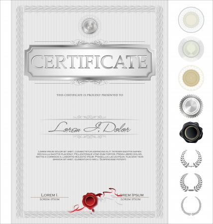 stock certificate: Certificate template Illustration