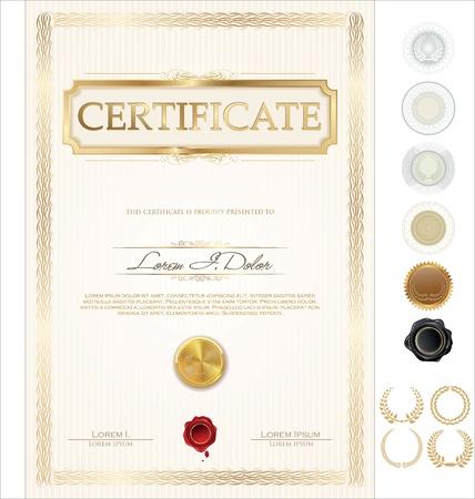 Certificate template Illustration