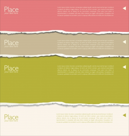 torn paper background: Torn paper background with space for text