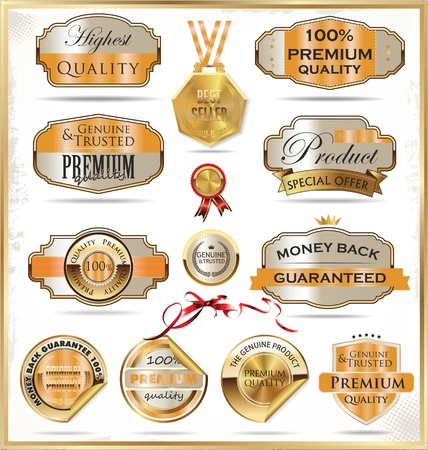 seal of approval: Premium quality labels Illustration