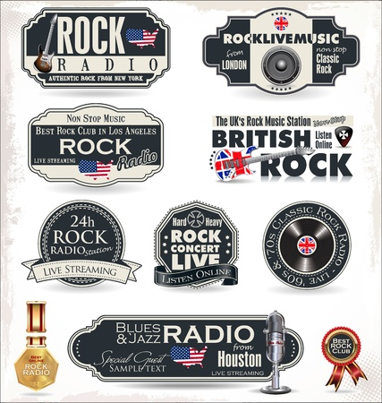 rock music: Rock music radio station labels